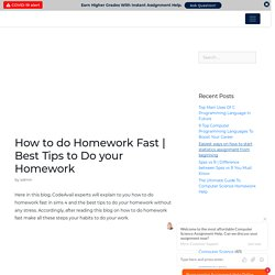 Best Tips to do your homework