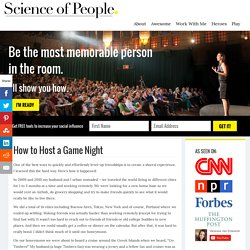How to Host a Game Night