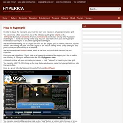 How to hypergrid