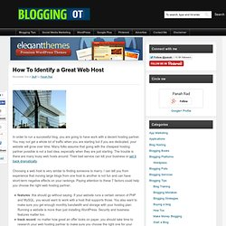 How To Identify a Great Web Host