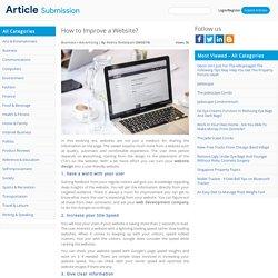 How to Improve a Website?