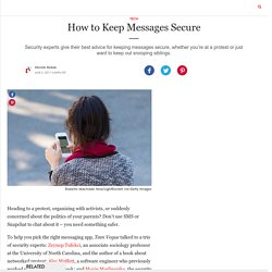 How to Keep Messages Secure