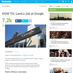 HOW TO: Land a Job at Google