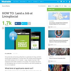 HOW TO: Land a Job at LivingSocial