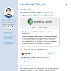 How to learn CSS layout