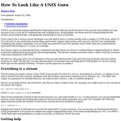 How To Look Like A UNIX Guru