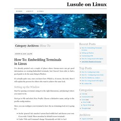 Lusule on Linux