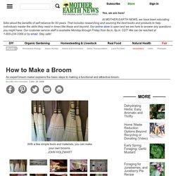 How to Make a Broom - DIY