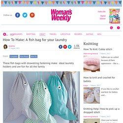How To Make: A fish bag for your laundry