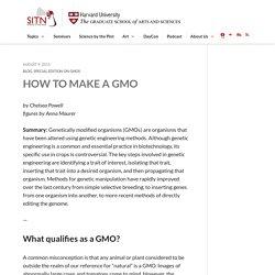How to Make a GMO
