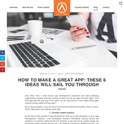 How To Make A Great App