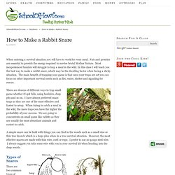 How To Make A Rabbit Snare