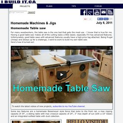 How To Make A Table Saw, Page 1
