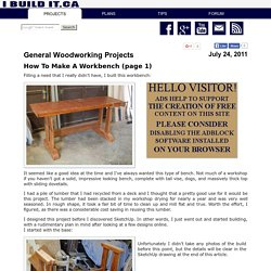 How To Make A Workbench, Page 1