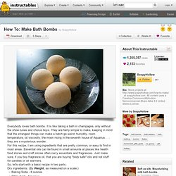 How To: Make Bath Bombs