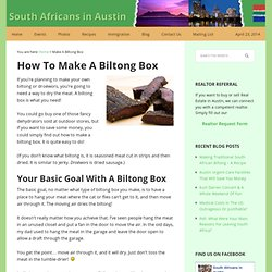 How To Make A Biltong Box For Drying Biltong