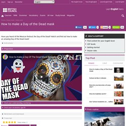 How to make a Day of the Dead mask