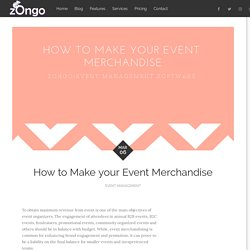 How to Make your Event Merchandise