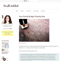 How to Make a Family Budget Step by Step