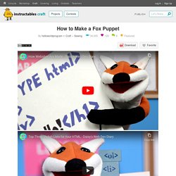 How to Make a Fox Puppet : 12 Steps