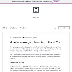 How to Make your Headings Stand Out