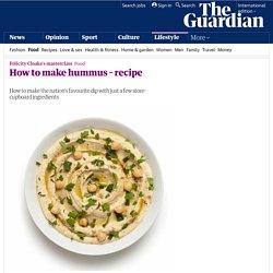 How to make hummus – recipe
