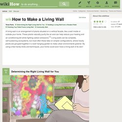 How to Make a Living Wall: 14 Steps