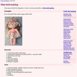 How To Make Mini Doll