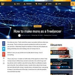 How to make more as a freelancer