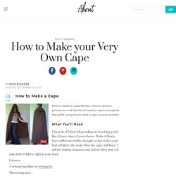 How to Make your Very Own Cape