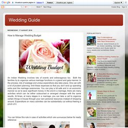 How to Manage Wedding Budget