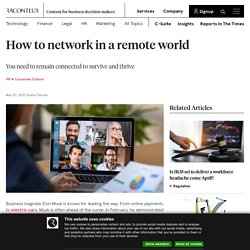 How to network in a remote world