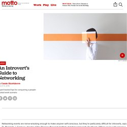 How to Network as an Introvert - Motto