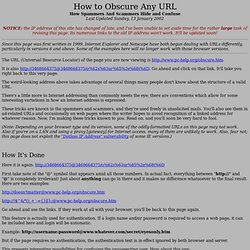 How to Obscure Any URL