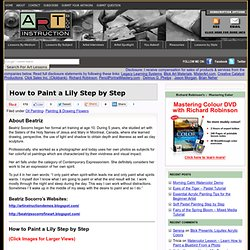 How to Paint a Lily Step by Step