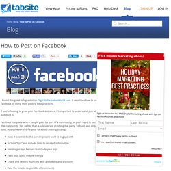 How to Post on Facebook - Tabsite Blog
