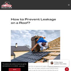 How to Prevent Leakage on a Roof?