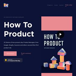 How to Product - Get the book