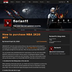 How to purchase NBA 2K20 MT?