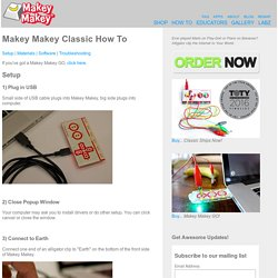 Makey Makey Classic How To