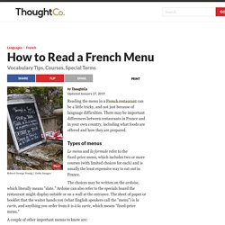 How to Read a French Menu