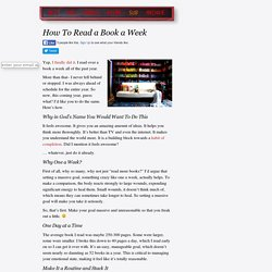 How To Read a Book a Week