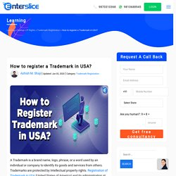 How to Register a Trademark in USA ?