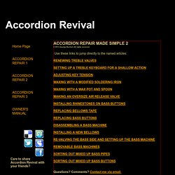 HOW TO REPAIR ACCORDIONS 2