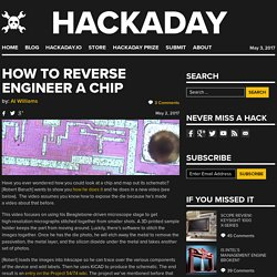 How to Reverse Engineer a Chip