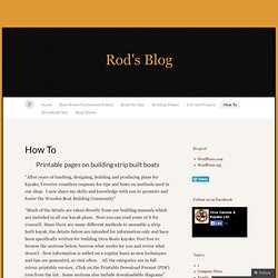 How To « Rod's Blog