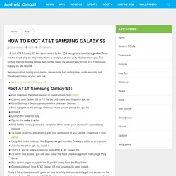 How to root AT&T Samsung Galaxy S5