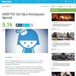 HOW TO: Set Up a Foursquare Special