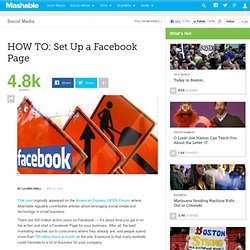 HOW TO: Set Up a Facebook Page