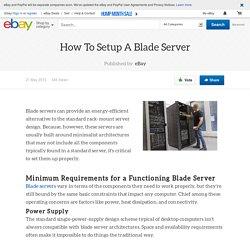How To Setup A Blade Server